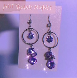 Hot Violet Nights (Earrings)